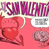 Chiste de Vergara en 'Orgullo y Satisfacción' sobre San Valentín, simbolizando lo que piensa el corazón y el cerebro.