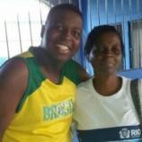 Filho acompanhou mãe na escola (Foto: Reprodução/Facebook/Vanderson Nascimento)