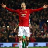 Zlatan Ibrahimovic metió 3 goles para sellar su gran partido. SkySports.com.