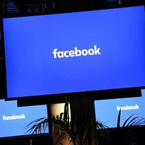 Facebook logo on an internet TV screen: better get used to it. / Photo from 'Barron's' - barrons.com