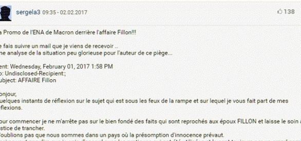 Bravo, on a tout compris ; la source du Penelopegate, c'est l'entourage d'Emmanuel Macron. Limpide, évident.