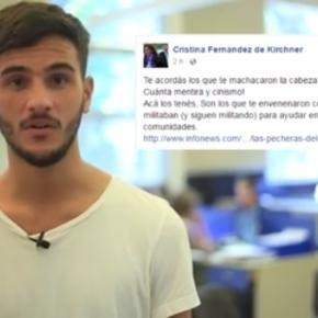 Imagen del video difundido en facebook