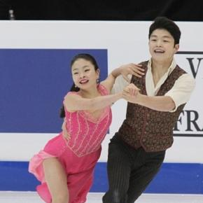 Maia Shibutani and Alex Shibutani competed during the short dance at the 2017 Four Continents Figure Skating Championships. Wiki/David W. Carmichael