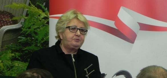 Henryka Krzywonos w Ostrowcu Świętokrzyskim. Fot. K.Krzak