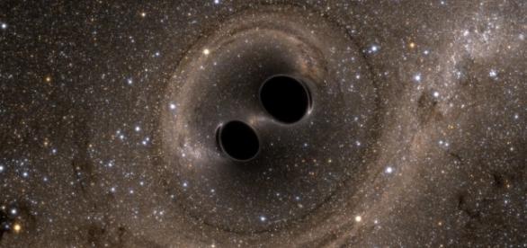 Black holes collide, SXS, the Simulating eXtreme Spacetimes (SXS) project public domain