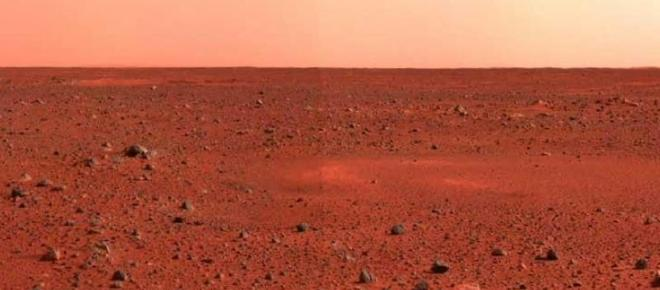 Construção de cidade no planeta Marte