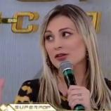 Andressa Urach fazia um quadro de entrevistas no programa 'Domingo Show'
