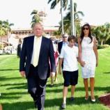 Donald Trump con Melania ed il figlio Barron