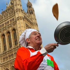 Pancake racing in the old kent road the annual pancake day ... - swanndvr.net
