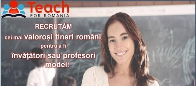 Înscrie-te ca profesor în programul Teach for Romania