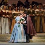 A lucid Elvira (Diana Damrau) and Arturo (Javier Camarena), in Bellini's 'I Puritani.' Photo: Marty Sohl/Metropolitan Opera, used with permission.