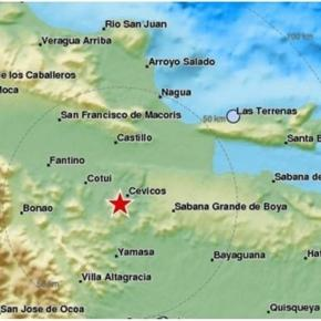 Map of the testimonies received so far following the #earthquake M4.5 in Dominican Republic by EMS Twitter