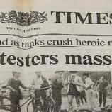 How news is reported is important, The Times 1989 protesters massacred (source: pixabay)