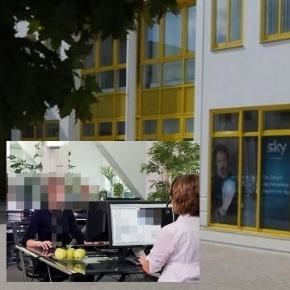 Callcenter von CCC (li.) und Sky Servicecenter Schwerin / Fotos: YourCCC PR, Sky.de