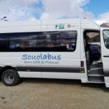 Scuolabus donato dalla città di Firenze a Montereale, uno dei comuni colpiti dal terremoto