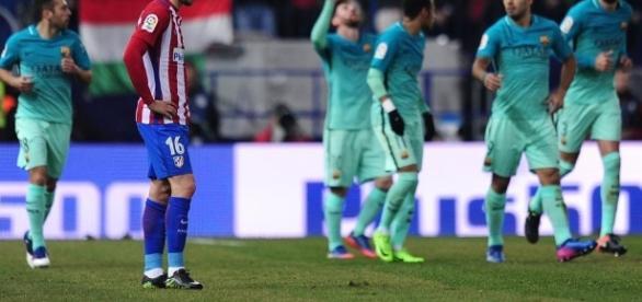 El Atlético de Madrid se lo juega todo esta noche en el Camp Nou. Foto: Getty