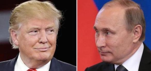 Trump and Putin. http://katehon.com/news/putin-and-trump-hold-talks photo via Katehon.com