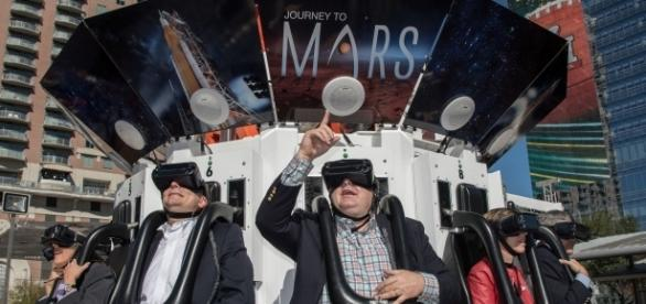 Super Bowl visitors in Houston enjoyed VR exhibits last week. (Photo via Flickr-NASA Johnson)