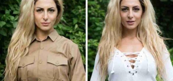 Imagem da mulher que teria matado militantes do Estado Islâmico.