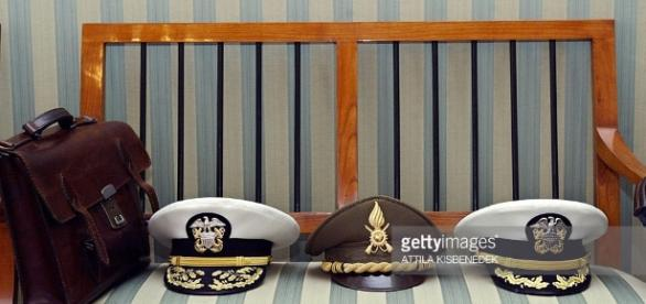 Berets of NATO admirals and generals res Pictures | Getty Images - gettyimages.co.uk
