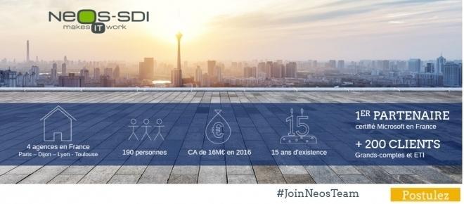 Neos-SDI recrute 60 consultants Microsoft en CDI