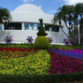 Find Figment in this Epcot display. (Photo by Barb Nefer)