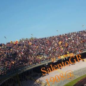 Tanti spettatori per Lecce- Catania. Foto Salento Giallorosso.