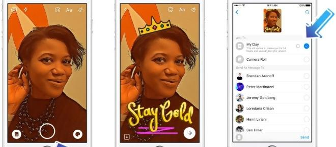 Facebook's Messenger Day adapted from Snapchat feature