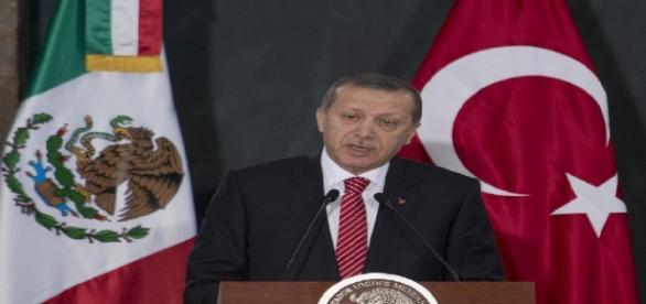 Le 12 février 2015, le président turc Erdogan en visite au Mexique