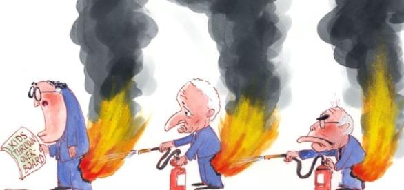 Nov pants on fire kids throw 850 | nicholsoncartoons.com.au - com.au