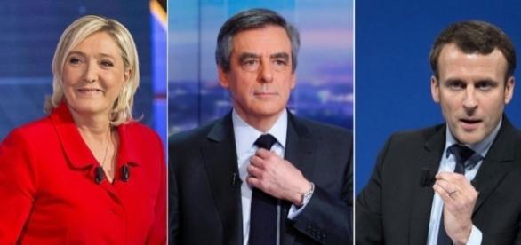 Marine Le Pen largement en tête au premier tour, selon les sondages.