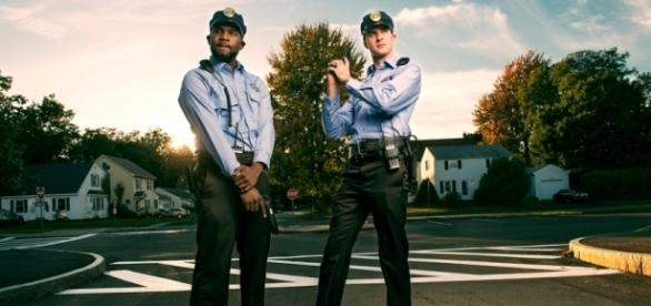 Dark Justice season 2 stars Che Holloway and Tim O'Connor as Police partners [Photo by Adam Antalek]