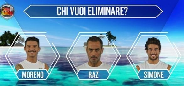 Moreno, Raz Degan e Simone Susinna in nomination