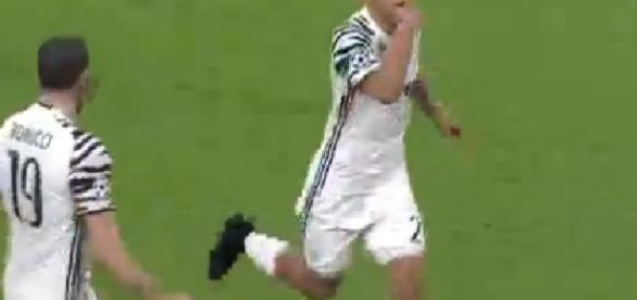 Rigore gol Dybala juventus 1 porto 0 Champions League.