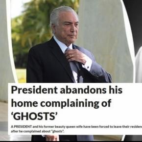 Presidente acredita que o Palácio do Alvorada seja um local mal assombrado