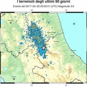 Sisma Provincia L'Aquila (Foto Facebook INGV Alessandro Amato)