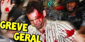 Vítima ferida após o confronto