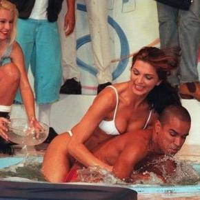 Luiza Ambiel na prova da banheira do Gugu