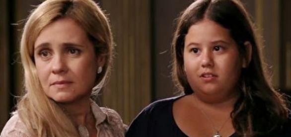 A atriz mirim perdeu muito peso.