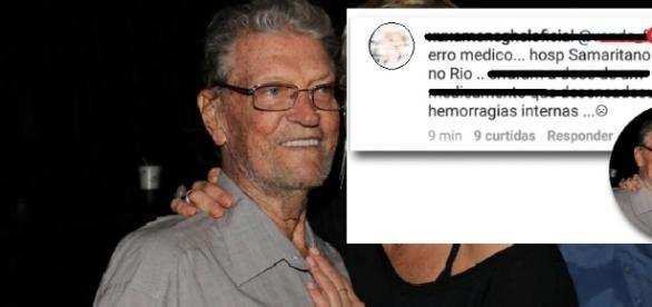 Erro médico deixa pai de apresentadora em coma