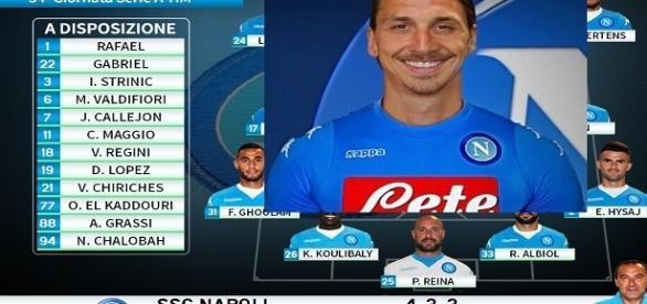 Zlatan Ibrahimovic fa sognare il Napoli