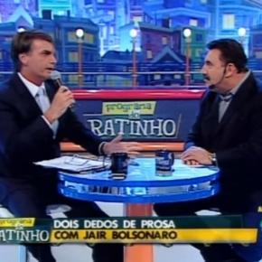 Deputado Jair Bolsonaro afirma no 'Programa do Ratinho' que tem certeza estará no segundo turno das eleições de 2018