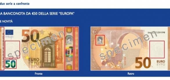 La nuova banconota da 50 euro in circolazione dal 4 aprile (https://www.ecb.europa.eu)