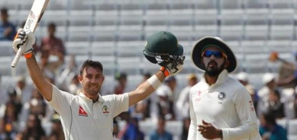 Maxwell of Australia after scoring century