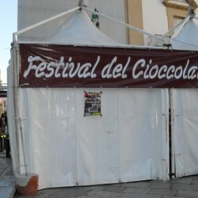 Stand del Festival del Cioccolato.