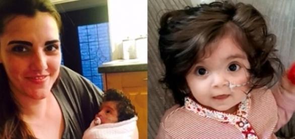 Bella tem oito meses de idade e já nasceu com muito cabelo (Crédito: YouTube/InfoRains2)
