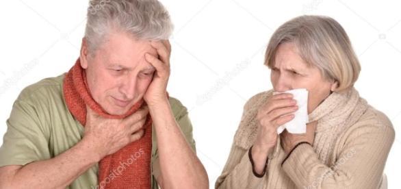 Coppia di anziani malati con linfluenza — Foto Stock © aletia ... - depositphotos.com