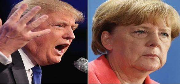 Donald Trump et Angela Merkel le 12 octobre
