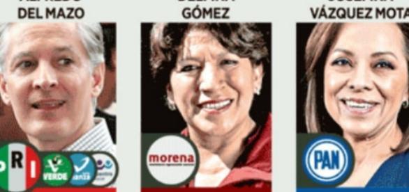 Así están las votaciones para la gubernatura del Estado de México. (Foto: Reforma)