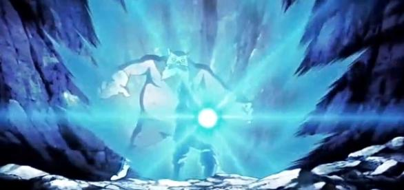 Goku lanza Kame Hame Ha a Toppo